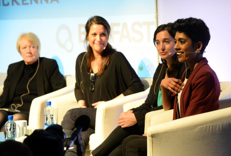 Women in Tech panel with Mary McKenna, Emma Mulqueeny, Alaina Percival, and Sheree Atcheson - BelTech 2014